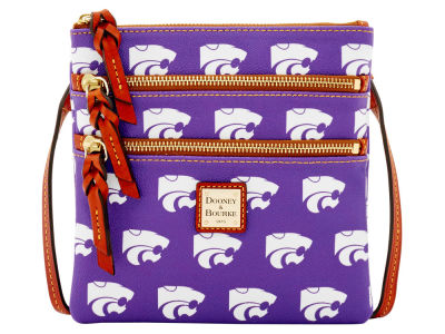Kansas State Wildcats Dooney & Bourke Triple Zip Crossbody Bag