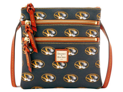 Missouri Tigers Dooney & Bourke Triple Zip Crossbody Bag