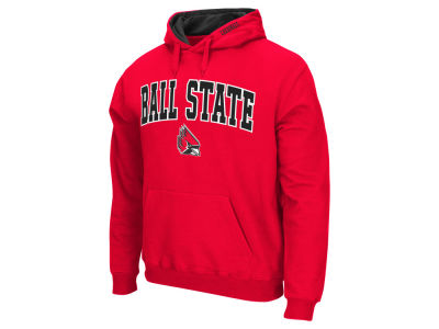 Ball State Cardinals Colosseum NCAA Men's Arch Logo Hoodie