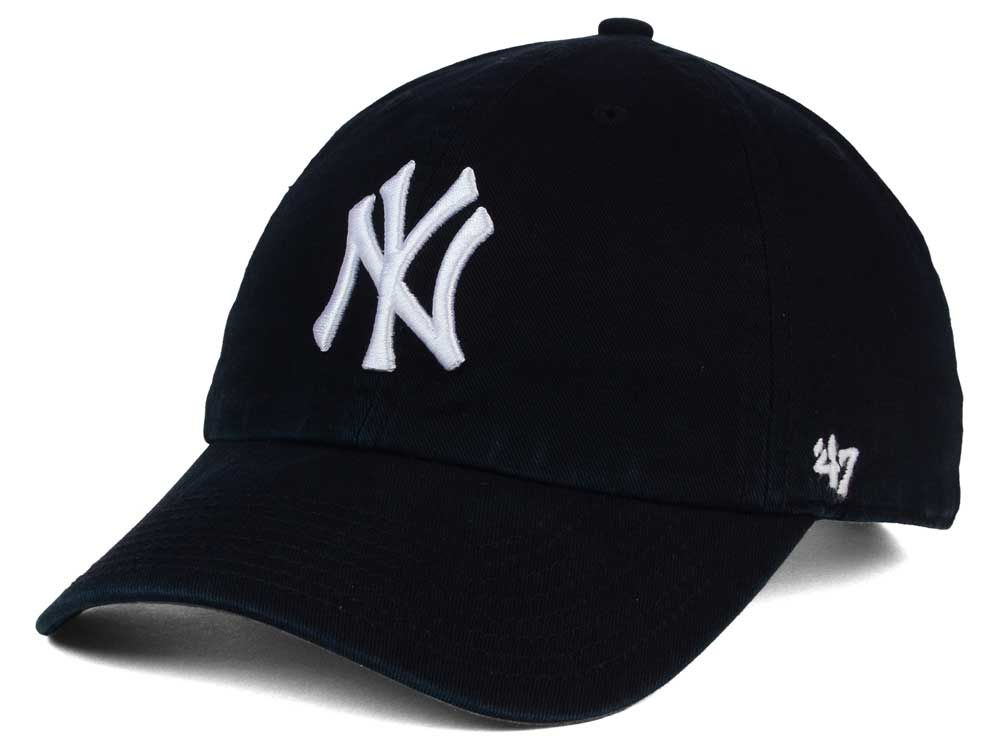 New York Yankees  47 MLB Black White  47 CLEAN ... 5cab6411efa4