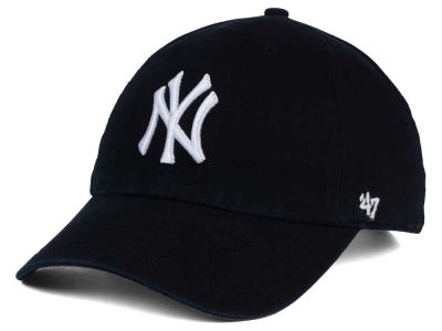 New York Yankees '47 MLB Black White '47 CLEAN UP Cap