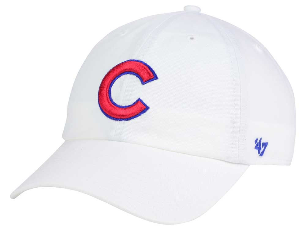 chicago cubs 47 mlb white 47 clean up cap