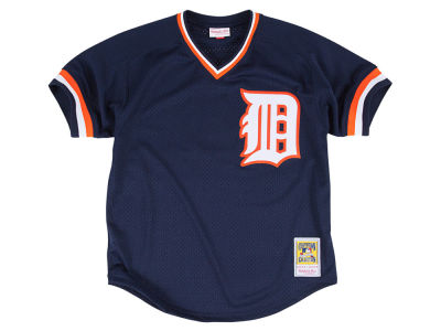 Detroit Tigers Alan Trammell Mitchell & Ness MLB Men's Authentic Mesh Batting Practice V-Neck Jersey
