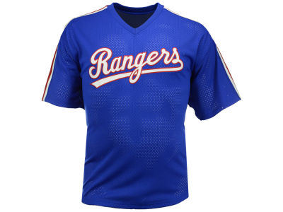 Texas Rangers Nolan Ryan Mitchell and Ness MLB Men's Authentic Mesh Batting Practice V-Neck Jersey