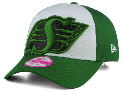 Saskatchewan Roughriders New Era CFL Women's Glitter Glam Adjustable Cap