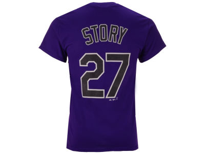 Colorado Rockies Trevor Story MLB Men's Official Player T-Shirt