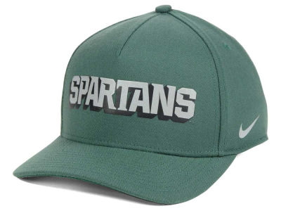 Michigan State Spartans Nike NCAA Local DNA Verbiage Swoosh Flex Cap