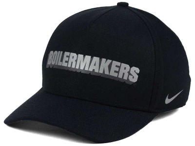 Purdue Boilermakers Nike NCAA Local DNA Verbiage Swoosh Flex Cap