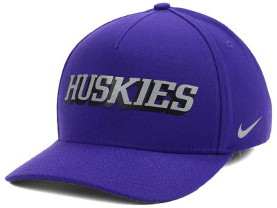 Washington Huskies Nike NCAA Local DNA Verbiage Swoosh Flex Cap