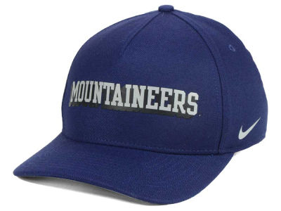 West Virginia Mountaineers Nike NCAA Local DNA Verbiage Swoosh Flex Cap