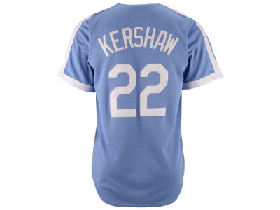Brooklyn Dodgers Clayton Kershaw Majestic MLB Men's Cooperstown Player Replica CB Jersey