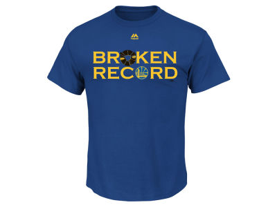 Golden State Warriors Majestic NBA Men's Broken Record T-Shirt