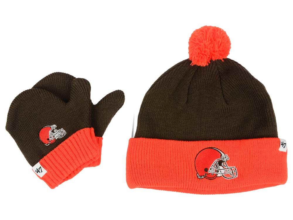 98e54c22a Cleveland Browns  47 NFL Toddler  47 Bam Bam Knit Set