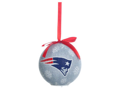 New England Patriots Single Ball LED Ornament