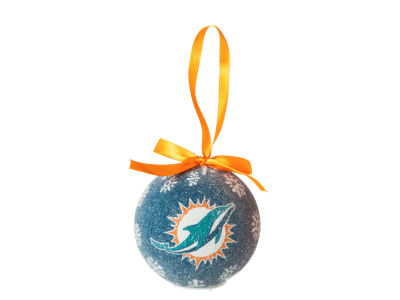 Miami Dolphins Single Ball LED Ornament