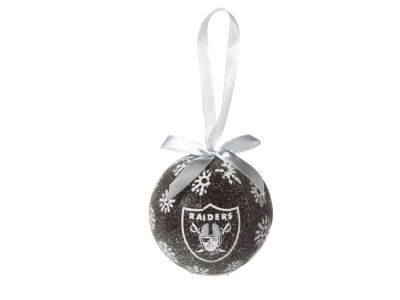 Oakland Raiders Single Ball LED Ornament