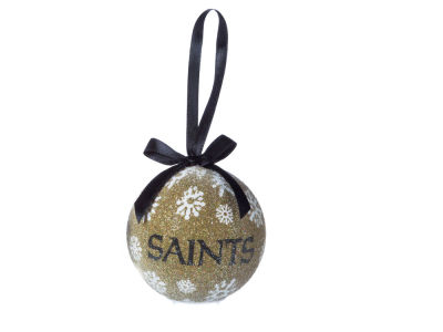 New Orleans Saints Single Ball LED Ornament