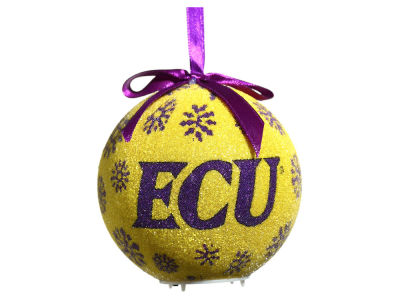 East Carolina Pirates Single Ball LED Ornament