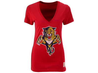 Florida Panthers NHL Womens Block Logo T-Shirt