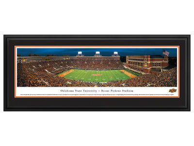 Oklahoma State Cowboys Panoramic Deluxe Framed