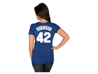 Los Angeles Dodgers Jackie Robinson MLB Womens Cooperstown Player T-Shirt