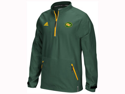 Edmonton Eskimos adidas CFL Men's Sideline Long Sleeve Knit 1/4 Zip Pullover Shirt