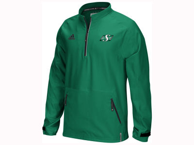 Saskatchewan Roughriders adidas CFL Men's Sideline Long Sleeve Knit 1/4 Zip Pullover Shirt