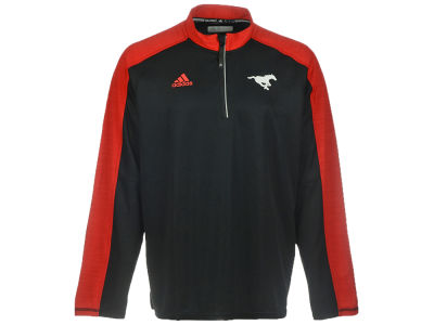 Calgary Stampeders adidas CFL Men's Sideline Long Sleeve Knit 1/4 Zip Pullover Shirt