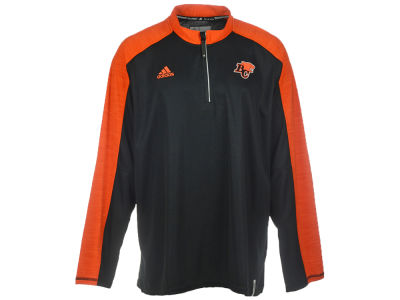 BC Lions adidas CFL Men's Sideline Long Sleeve Knit 1/4 Zip Pullover Shirt