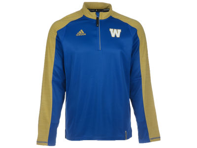 Winnipeg Blue Bombers adidas CFL Men's Sideline Long Sleeve Knit 1/4 Zip Pullover Shirt