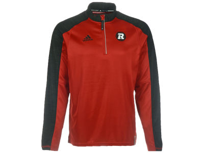 Ottawa RedBlacks adidas CFL Men's Sideline Long Sleeve Knit 1/4 Zip Pullover Shirt