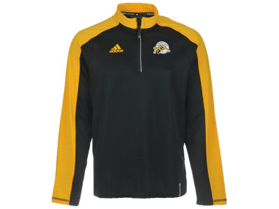 Hamilton Tiger-Cats adidas CFL Men's Sideline Long Sleeve Knit 1/4 Zip Pullover Shirt