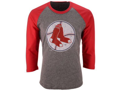 Boston Red Sox Majestic MLB Men's Heather Logo Triblend Raglan Shirt