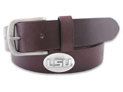 LSU Tigers Leather Concho Belt