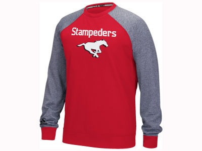 Calgary Stampeders adidas CFL Men's Long Sleeve Raglan Fleece