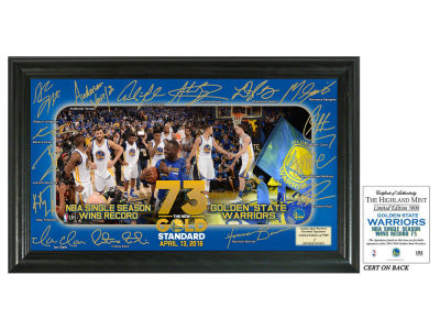"Golden State Warriors 12x20 73 Win Record ""Signature Celebration"" Framed Photo"
