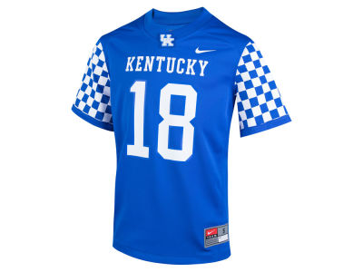 Kentucky Wildcats #18 Nike NCAA Youth Replica Football Game Jersey