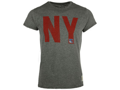 New York Rangers NHL Mens Streak Triblend City Initial T-Shirt