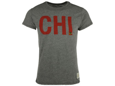 Chicago Blackhawks NHL Mens Streak Triblend City Initial T-Shirt