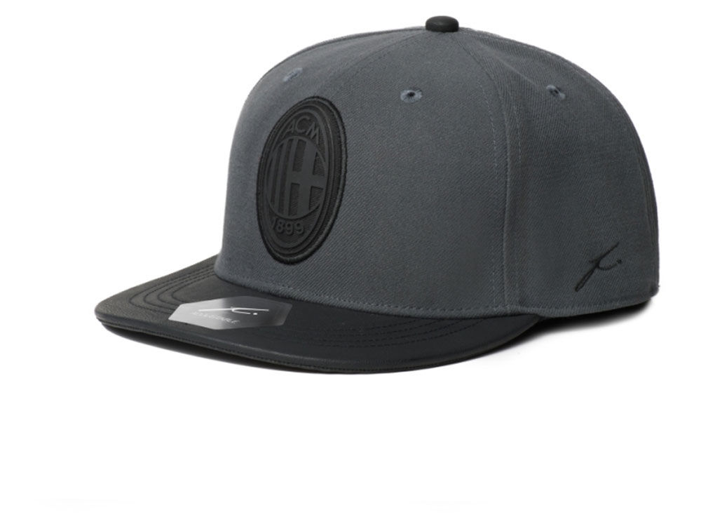 AC Milan Fan Ink FI Collection Charcoal Black Snapback Cap  25780115c5b6