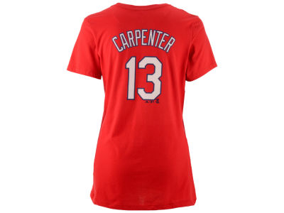 St. Louis Cardinals Matt Carpenter Majestic MLB Women's Crew Player T-Shirt