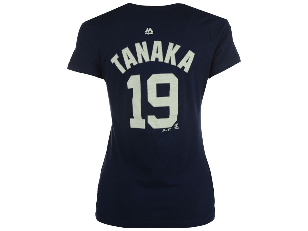 New York Yankees Masahiro Tanaka Majestic MLB Women s Crew Player T-Shirt 111df58553e