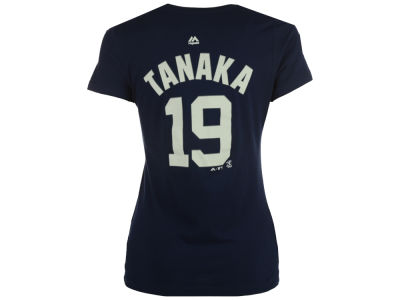 New York Yankees Masahiro Tanaka Majestic MLB Women's Crew Player T-Shirt