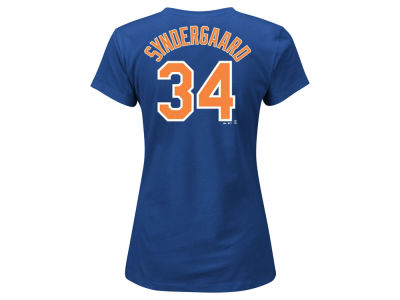 New York Mets Noah Syndergaard Majestic MLB Women's Crew Player T-Shirt