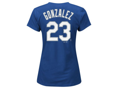 Los Angeles Dodgers Adrian Gonzalez MLB Women's Crew Player T-Shirt