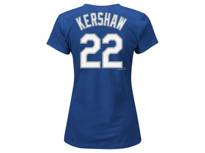 Los Angeles Dodgers Clayton Kershaw Majestic MLB Women's Crew Player T-Shirt