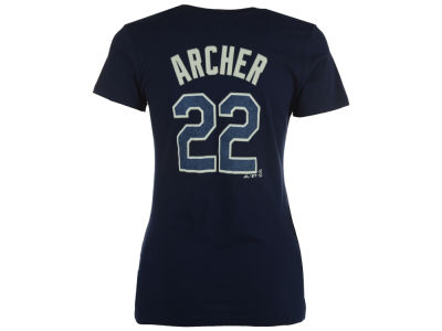 Tampa Bay Rays Chris Archer Majestic MLB Women's Crew Player T-Shirt