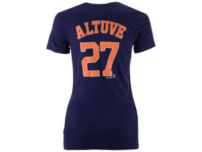 Houston Astros Jose Altuve Majestic MLB Women's Crew Player T-Shirt