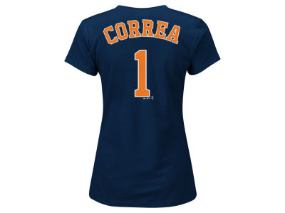 Houston Astros Carlos Correa Majestic MLB Women's Crew Player T-Shirt