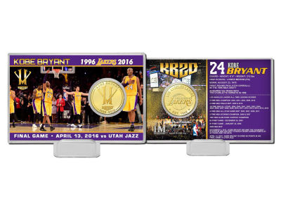 "Los Angeles Lakers Kobe Bryant 4x6 ""Final Season"" Bronze Coin Card"